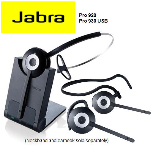 Jabra Pro 920 Cordless Headset Phoneware